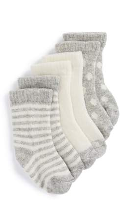 Tucker + Tate Assorted 3-Pack Wool & Cashmere Socks