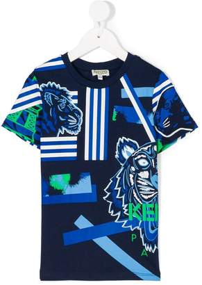 Kenzo striped tiger T-shirt