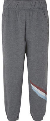 LNDR Cool-down Cropped Striped Jersey Track Pants