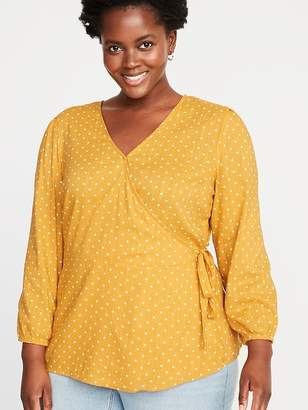 d1976be732afb Old Navy Wrap-Front Tie-Waist Plus-Size Top