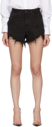 Alexander Wang Black Side Zip Bite Shorts