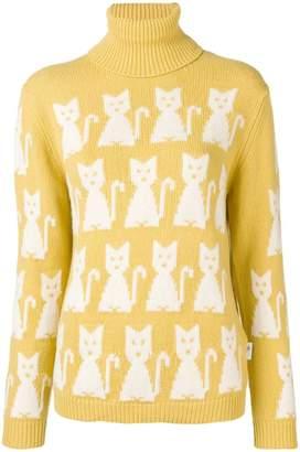 Moncler kitten-intarsia sweater