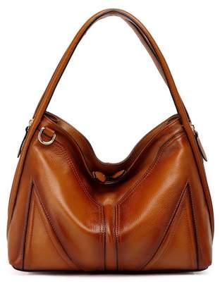 Vicenzo Leather Ella Leather Hobo Handbag
