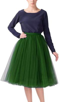 Belle House Tulle Skirt Tea Length Party Dresses 2019 Tutu Skirts for Women