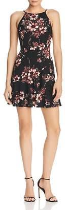 Aqua Ruffled Floral Print Dress - 100% Exclusive