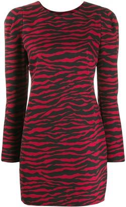 P.A.R.O.S.H. zebra print short dress