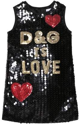 Dolce & Gabbana Is Love sequinned dress