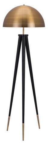 ZM Home MidCentury Modern Floor Lamp Brass/Black 61