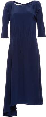 Prada asymmetric flared midi dress