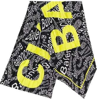 Balenciaga curved typo scarf