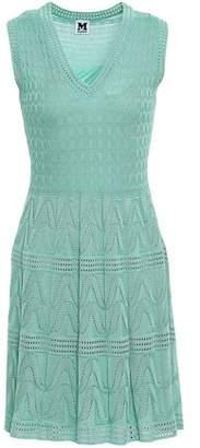 M Missoni Pointelle-trimmed Crochet-knit Wool-blend Mini Dress