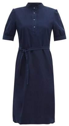 A.P.C. Clea Cotton Dress - Womens - Indigo