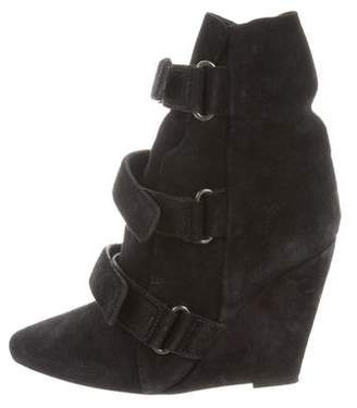 Isabel Marant Pointed-Toe Wedge Ankle Boots