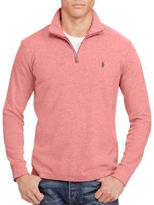 Polo Ralph LaurenCotton-Blend Half-Zip Pullover