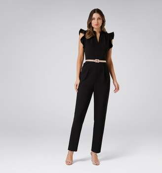 Forever New Cora Petite Frill Shoulder Jumpsuit