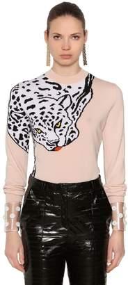 Krizia Lvr Edition Leopard Wool Knit Sweater