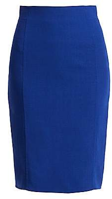 Akris Women's Double Face Wool Pencil Skirt