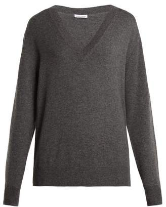 Tomas Maier V Neck Cashmere Sweater - Womens - Light Grey
