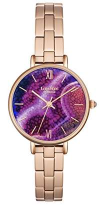 Lola Rose Women's Quartz Watch with Purple Dial Analogue Display and Rose Gold Alloy Bracelet LR4008
