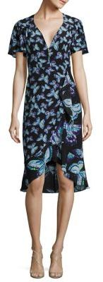 Nanette Lepore Mariposa Butterfly-Print Silk Dress $478 thestylecure.com