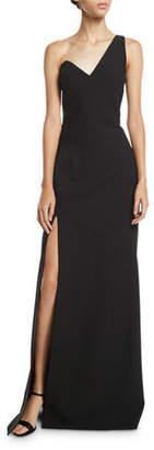 Cinq à Sept Giovanna One-Shoulder High-Slit Gown