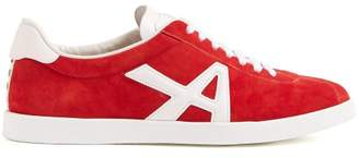 Aquazzura The A Suede Low Top Trainers - Womens - Red