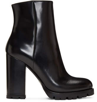 Prada Black Lug Sole Boots