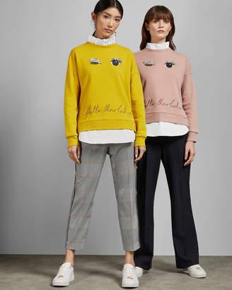 Ted Baker HENREET Frill detail cotton sweater