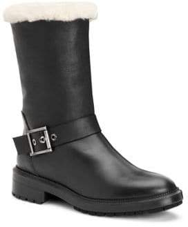Aquatalia Leda Shearling& Leather Boots