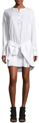 rag & bone/JEAN Tie-Waist Poplin Shirtdress, Bright White $250 thestylecure.com