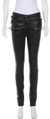 Anine Bing Leather Mid-Rise Pants