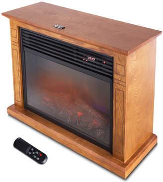 Della 1500 Watt Deluxe Infrared Quartz Heater Flame Wood Log Caster Cabinet