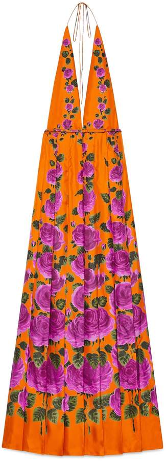 Rose Garden print silk dress