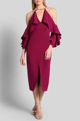 Dahlia Cushnie Aura Cold Shoulder Dress