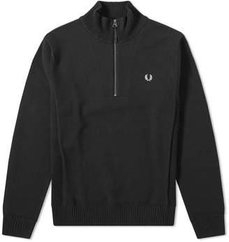Fred Perry Authentic Rib Insert Half Zip Knit