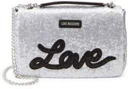 Love Moschino Love Sequin Crossbody Bag