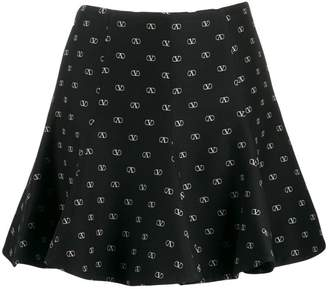 Valentino printed Vlogo mini skirt