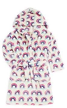 Hatley Girl's Pretty Rainbows Fleece Robe