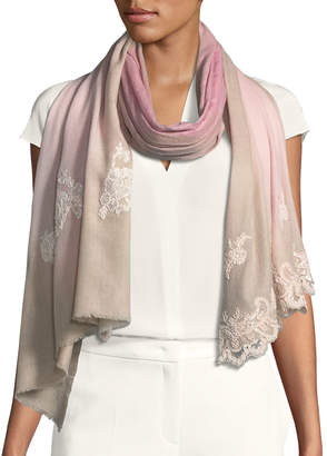 Bindya Wool-Silk Lace Scarf