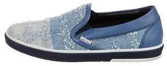 Jimmy Choo Distressed Denim Sneakers