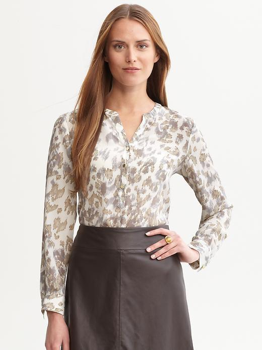 Lindsay printed silk blouse