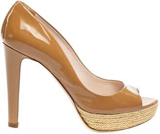 Miu Miu Camel Patent leather Heels