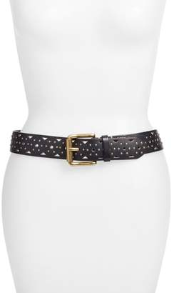 Frye Addison Studded Leather Belt