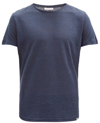Orlebar Brown Ob T Linen T Shirt - Mens - Navy