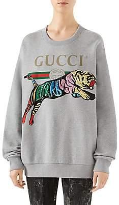 Gucci Women's Sequin Tiger Sweatshirt