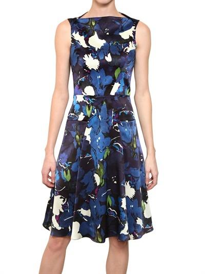 Erdem Printed Silk Satin Dress