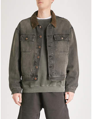 Yeezy Season 6 corduroy-trimmed denim jacket