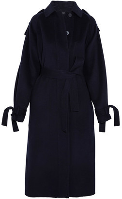 Joseph - Clallam Wool And Cashmere-blend Coat - Navy $1,195 thestylecure.com