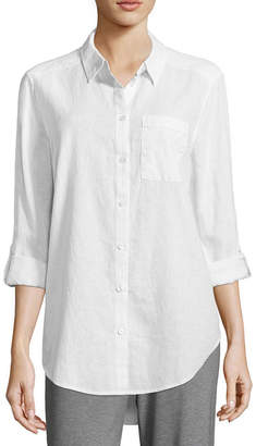 Liz Claiborne Studio Long Sleeve Button Front Tunic
