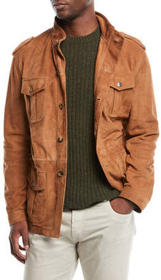 Neiman Marcus Valstar for Men's Suede Unlined Field Jacket